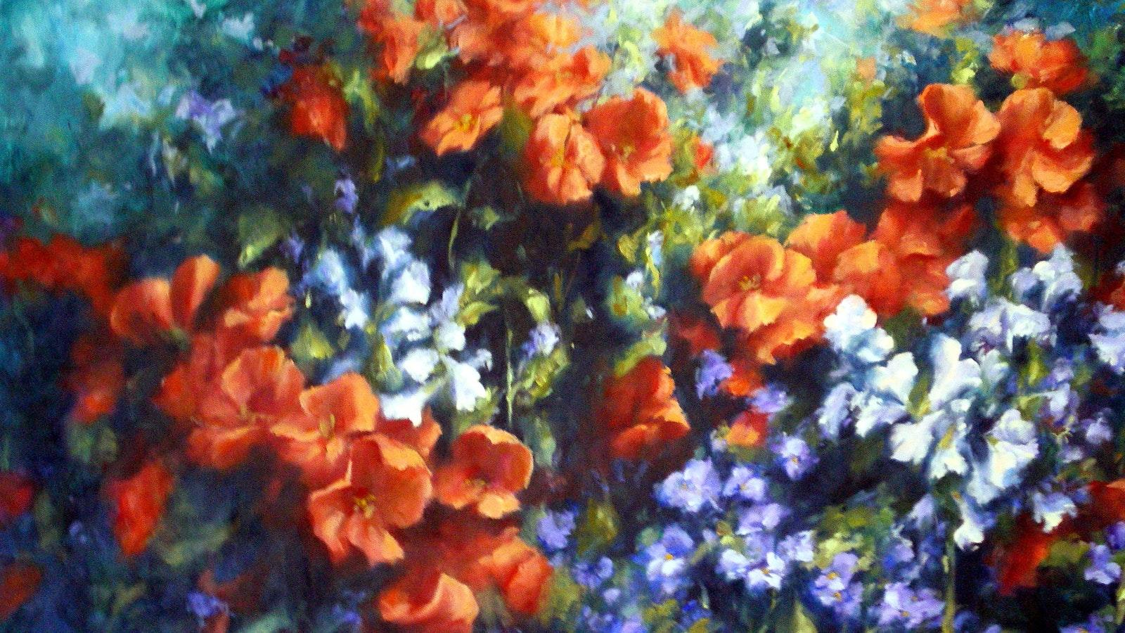 """Flower Panel""  86x52cm"
