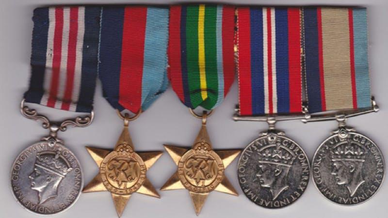 display of War medals