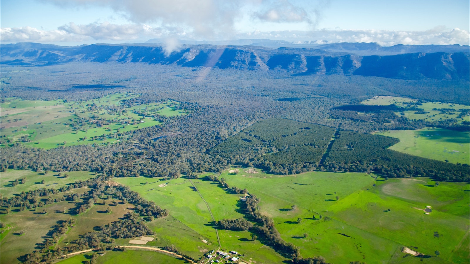 Grampians National Park in the distance