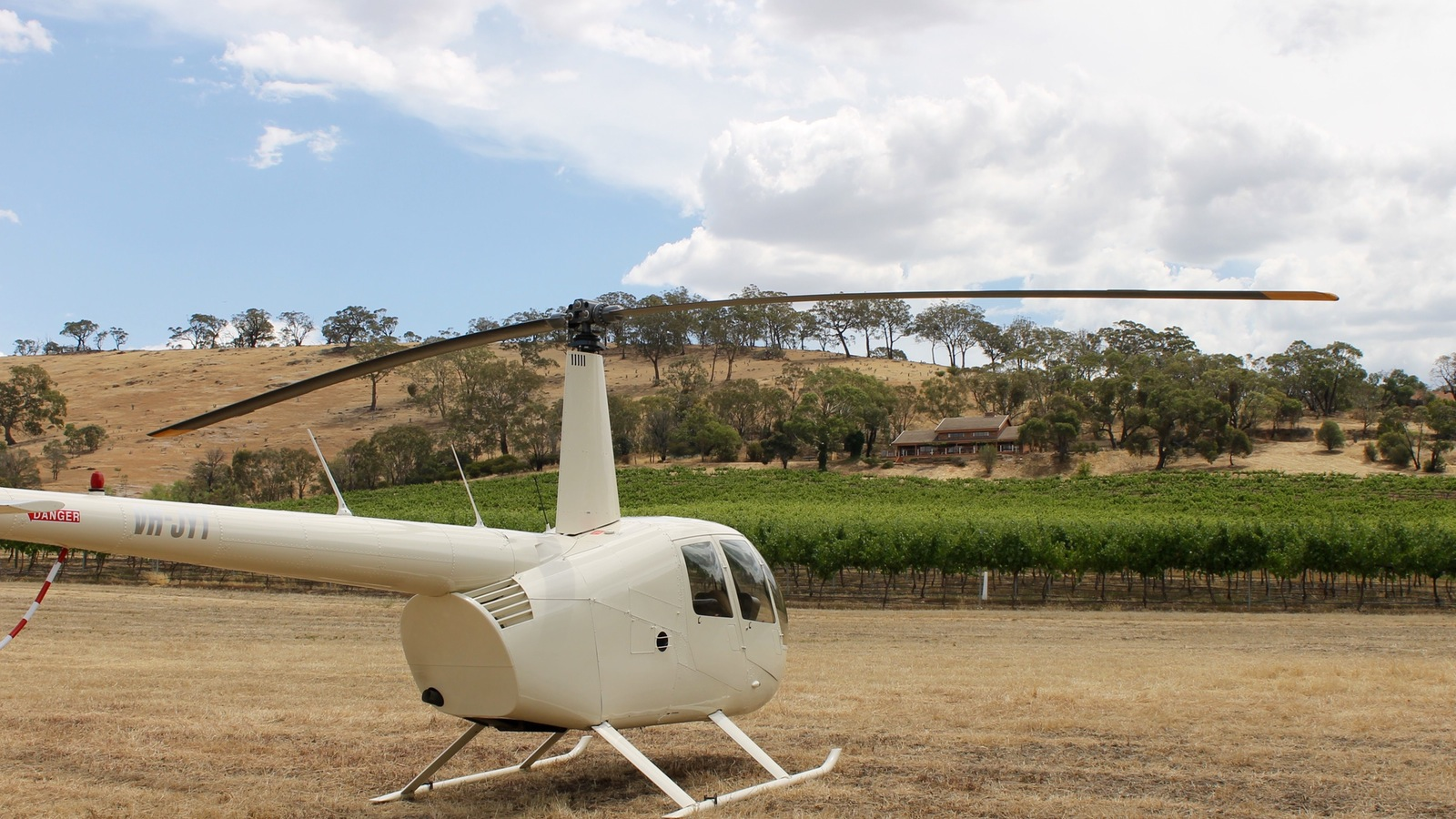 Landing at winery