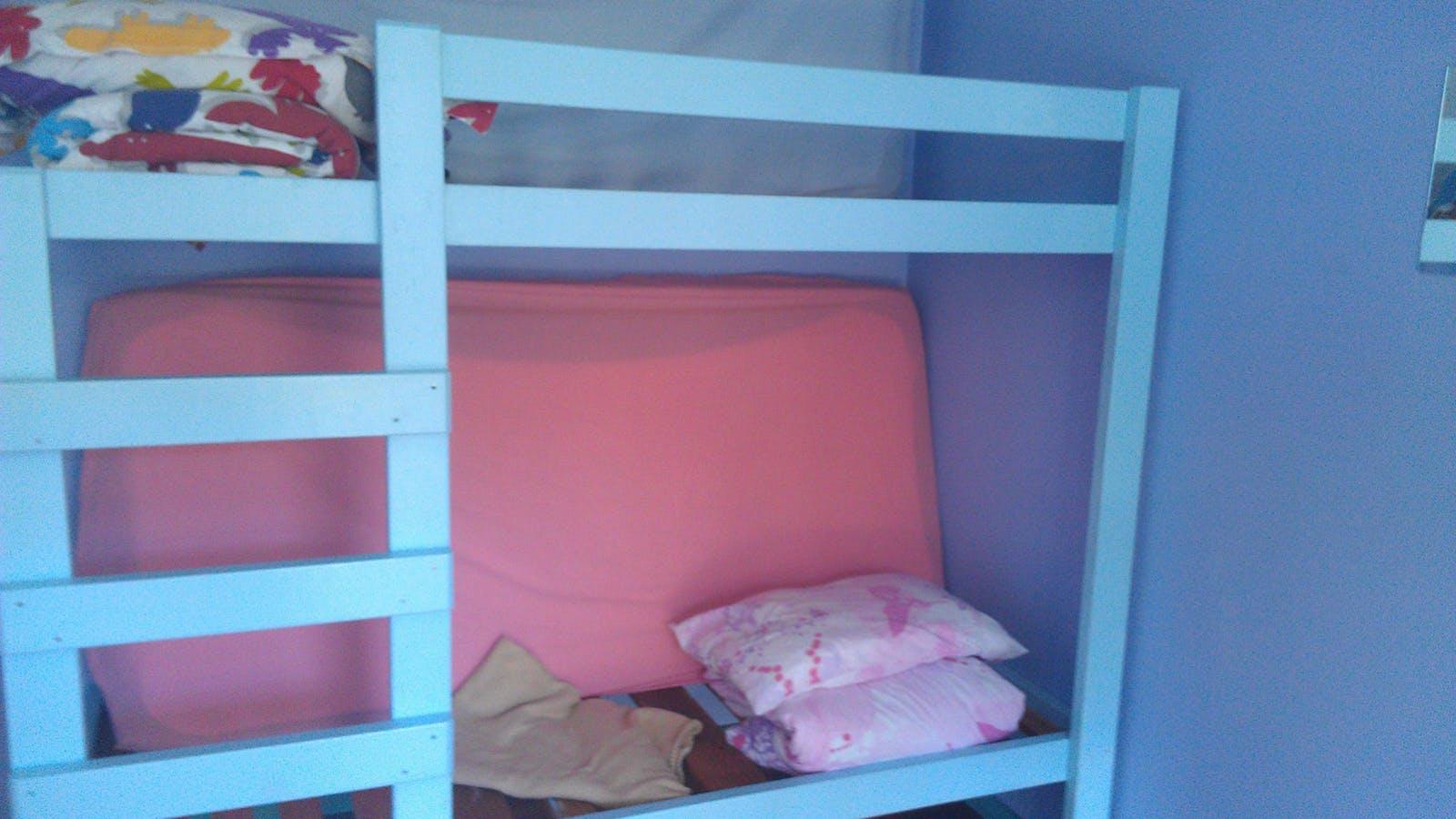 Dorm room bunks