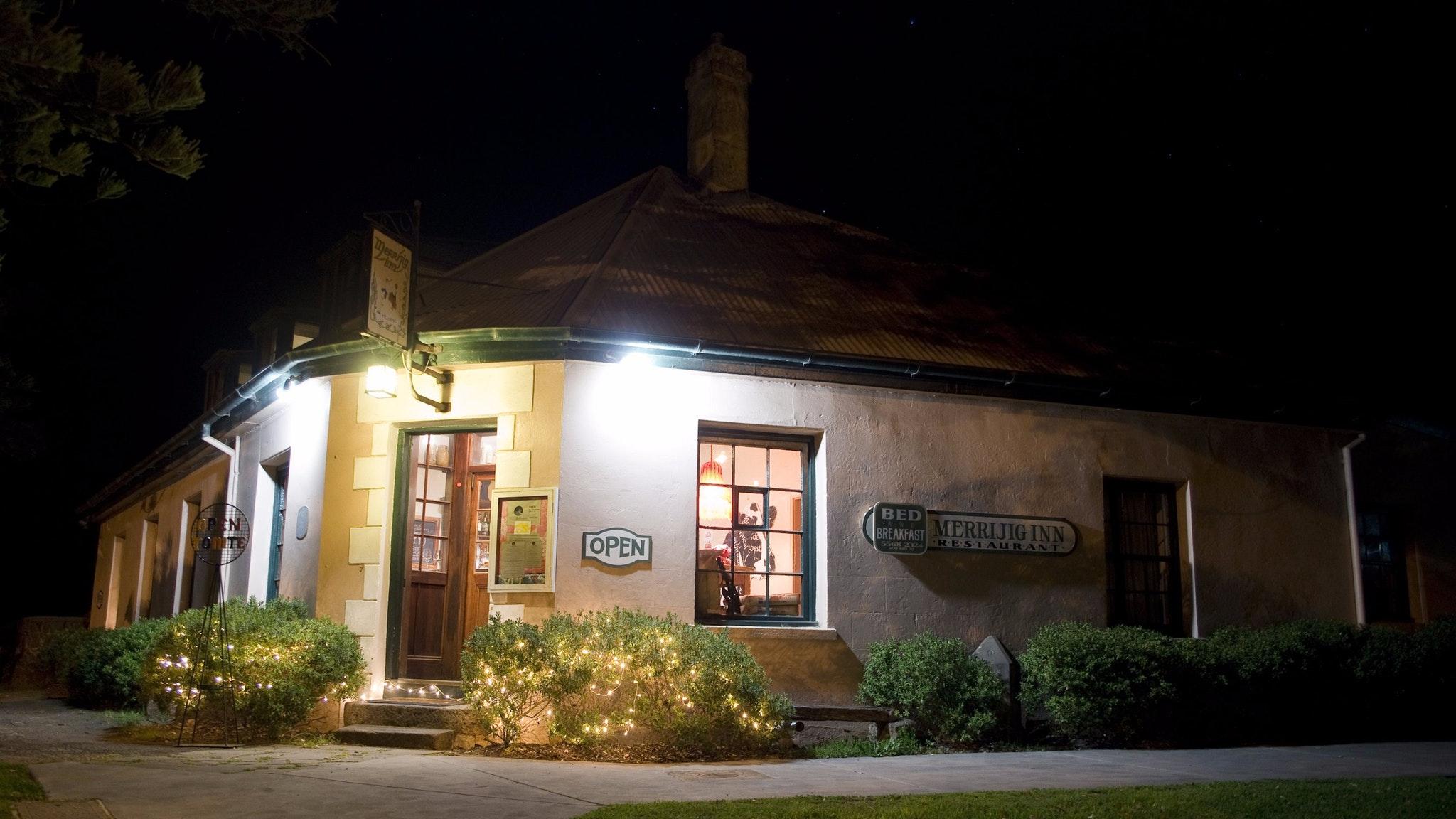 Merrijig inn at night
