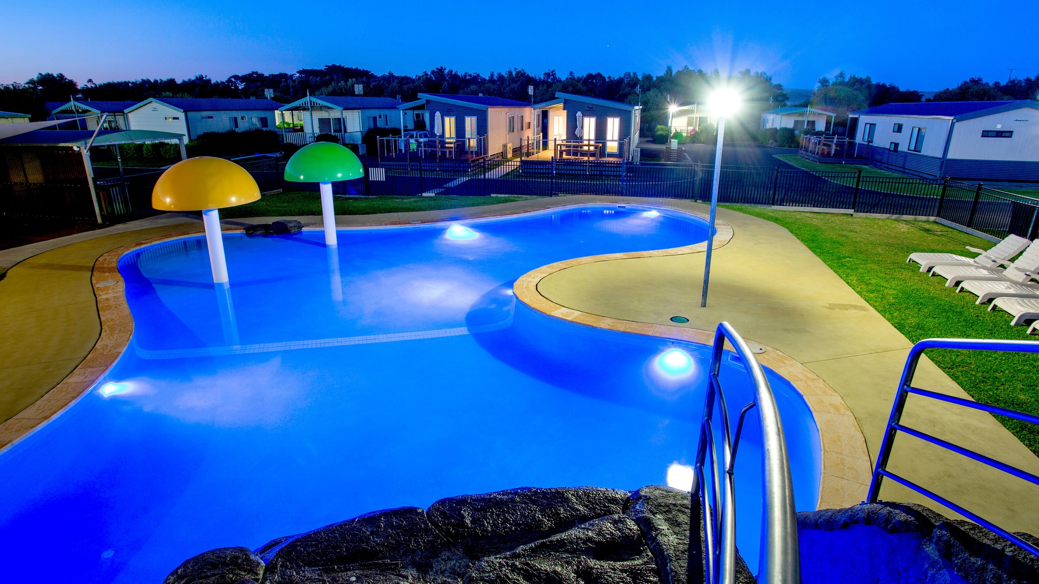 Lagoon Pool by night