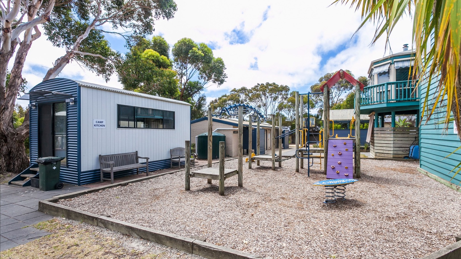 Playground, Camp Kitchen, Amenities, Spa and Office Building