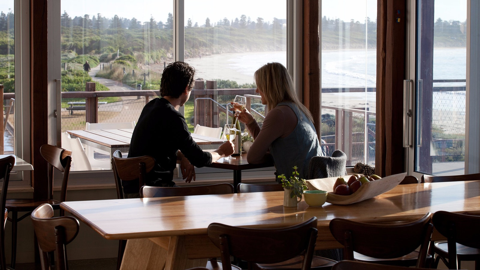 Pavilion Cafe & Bar - always a spectacular ocean view.