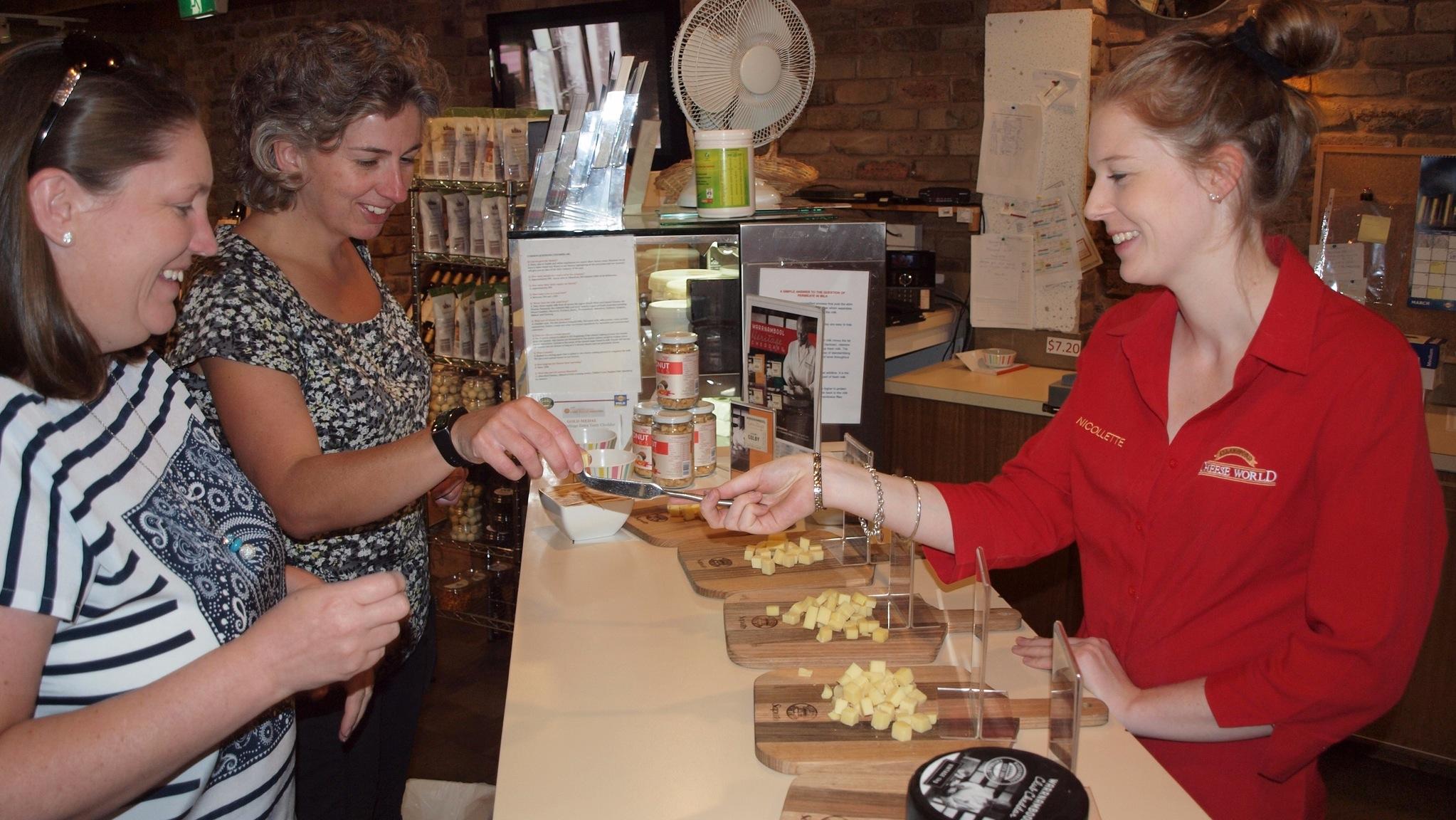 Sampling the award winning cheddars