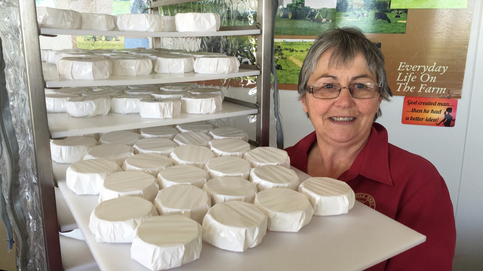Dianne Benson with some Apostle Whey Cheese