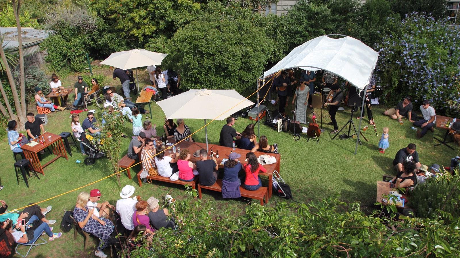 The Wishart Gallery Beer Garden with live tunes