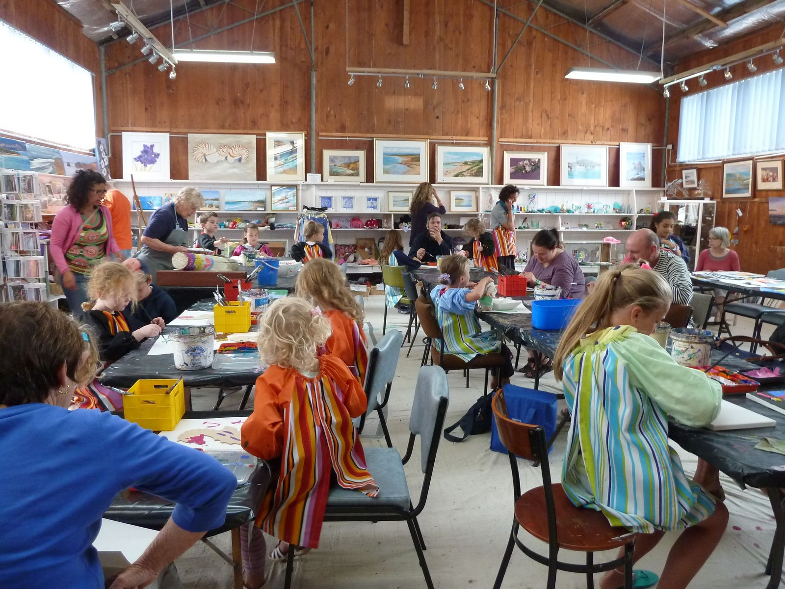 """Kids Art Bash"" held every January."