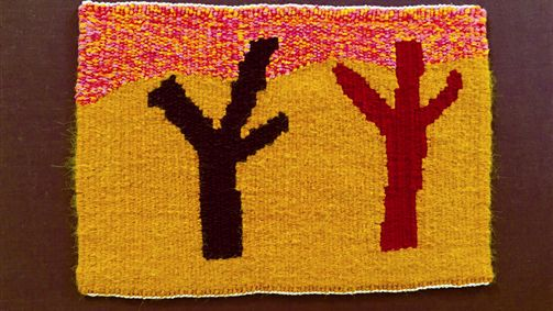 Fiona Clarke, Of the Land, woven tapestry
