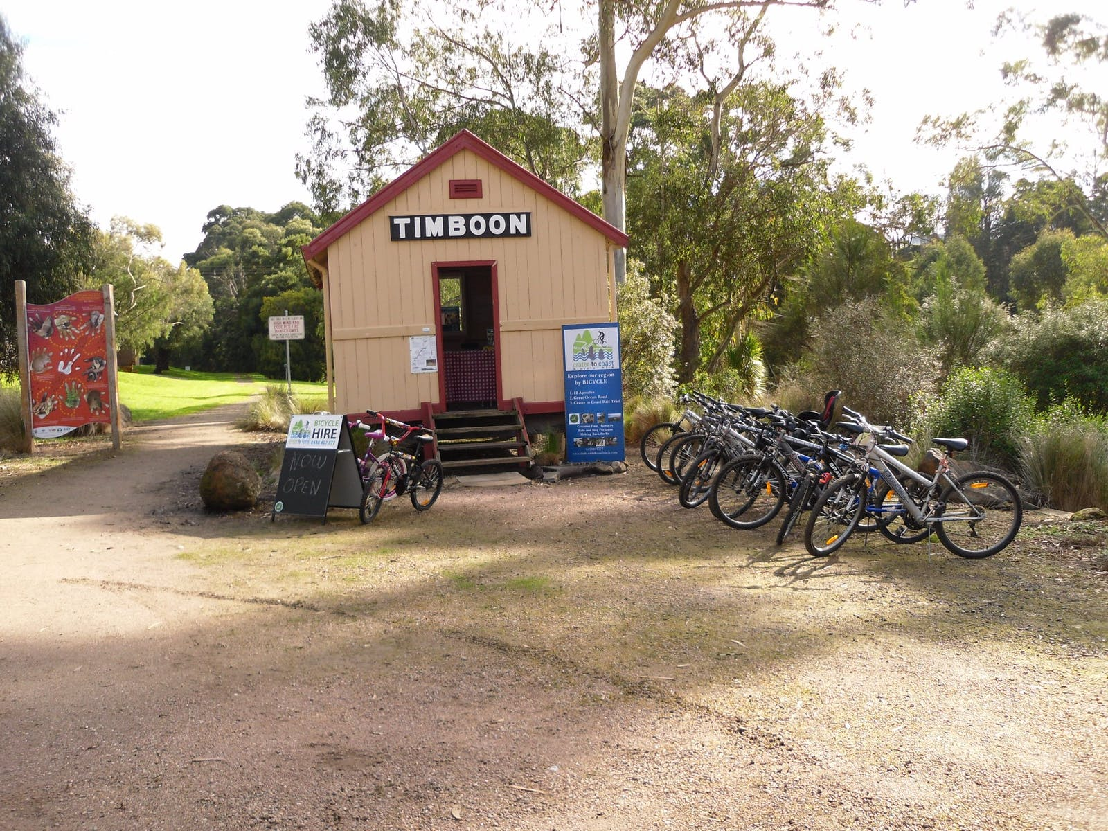 Our Shop Located on the Crater to Coast Rail Trail  Timboon