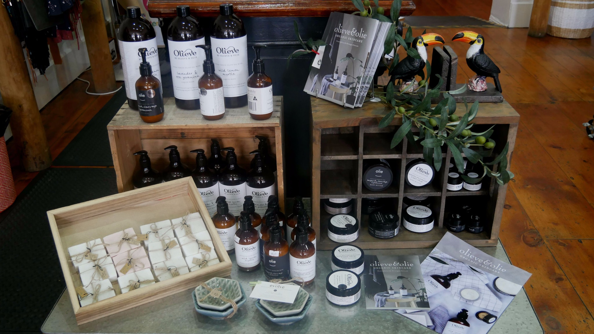 Olieve and Oli skincare and giftware instore