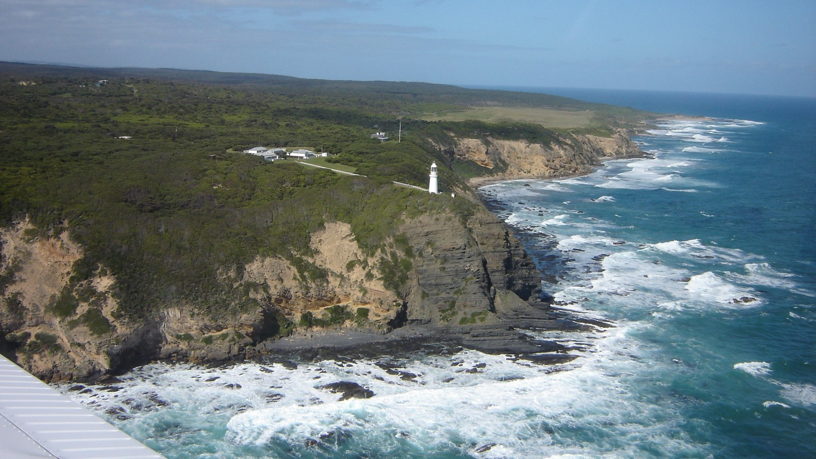 Cape Otway Lighthouse as seen with 12 Apostles flight adventures, Torquay
