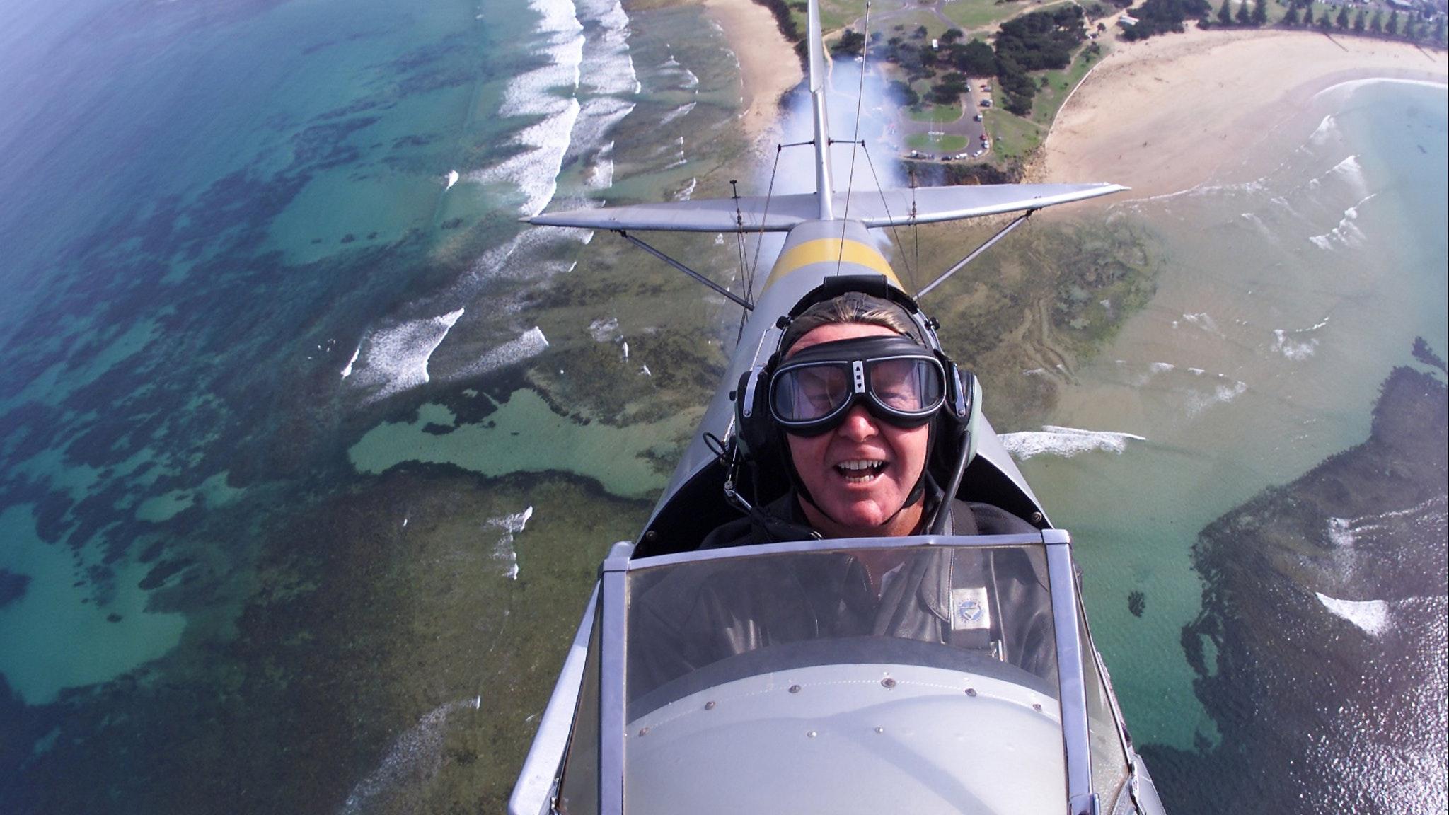 Tiger Moth World flight over Torquay