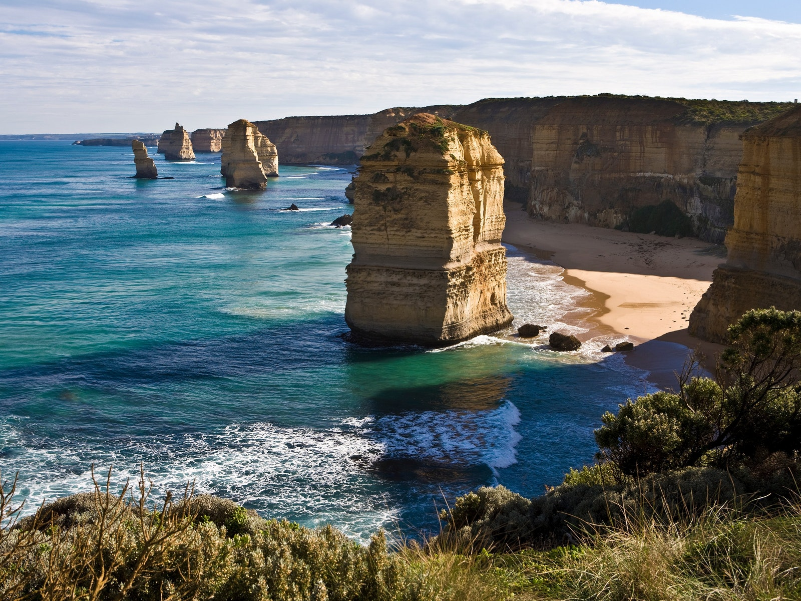 The world famous Twelve Apostles