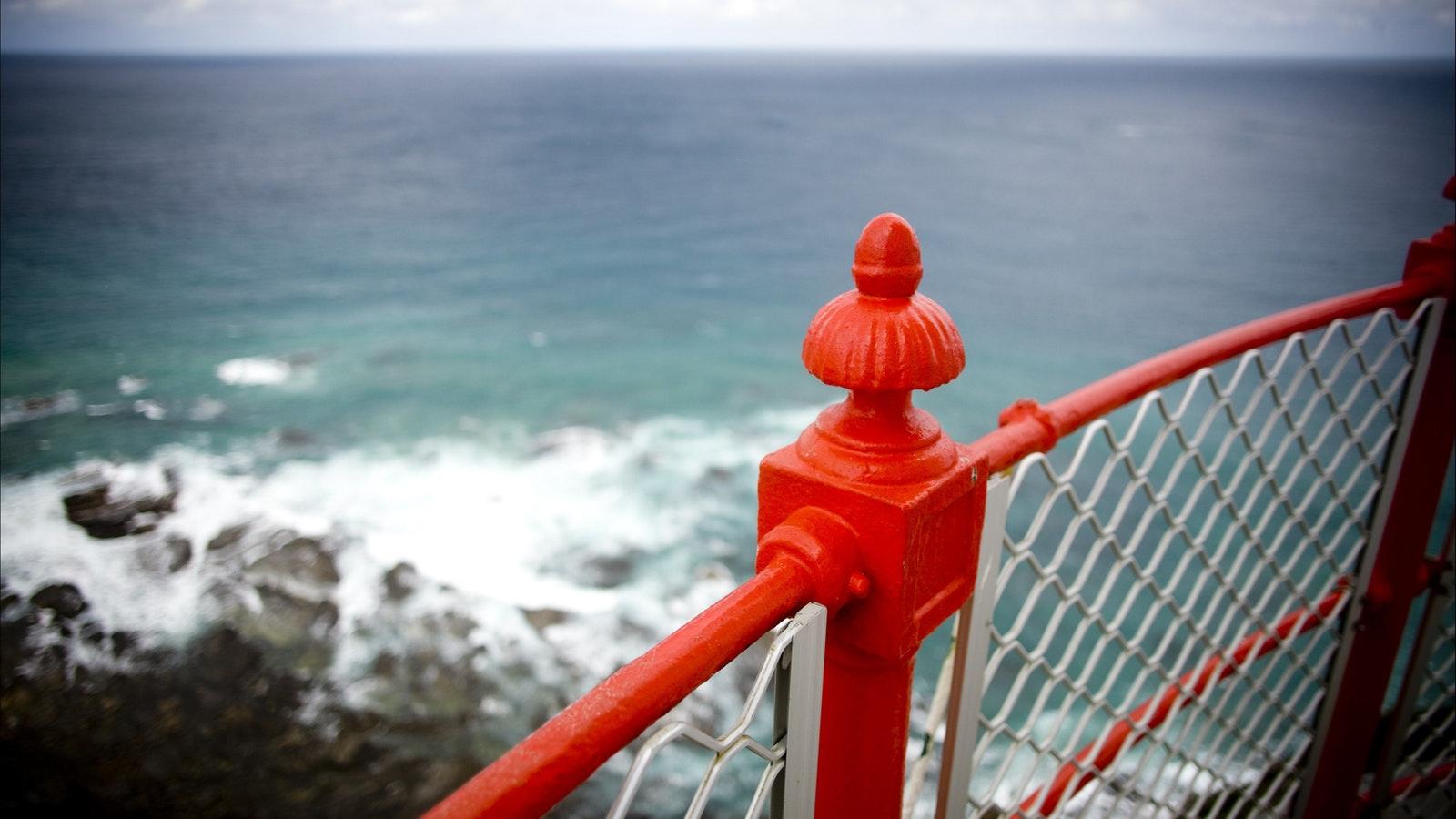 Ocean view on Cape Otway light house