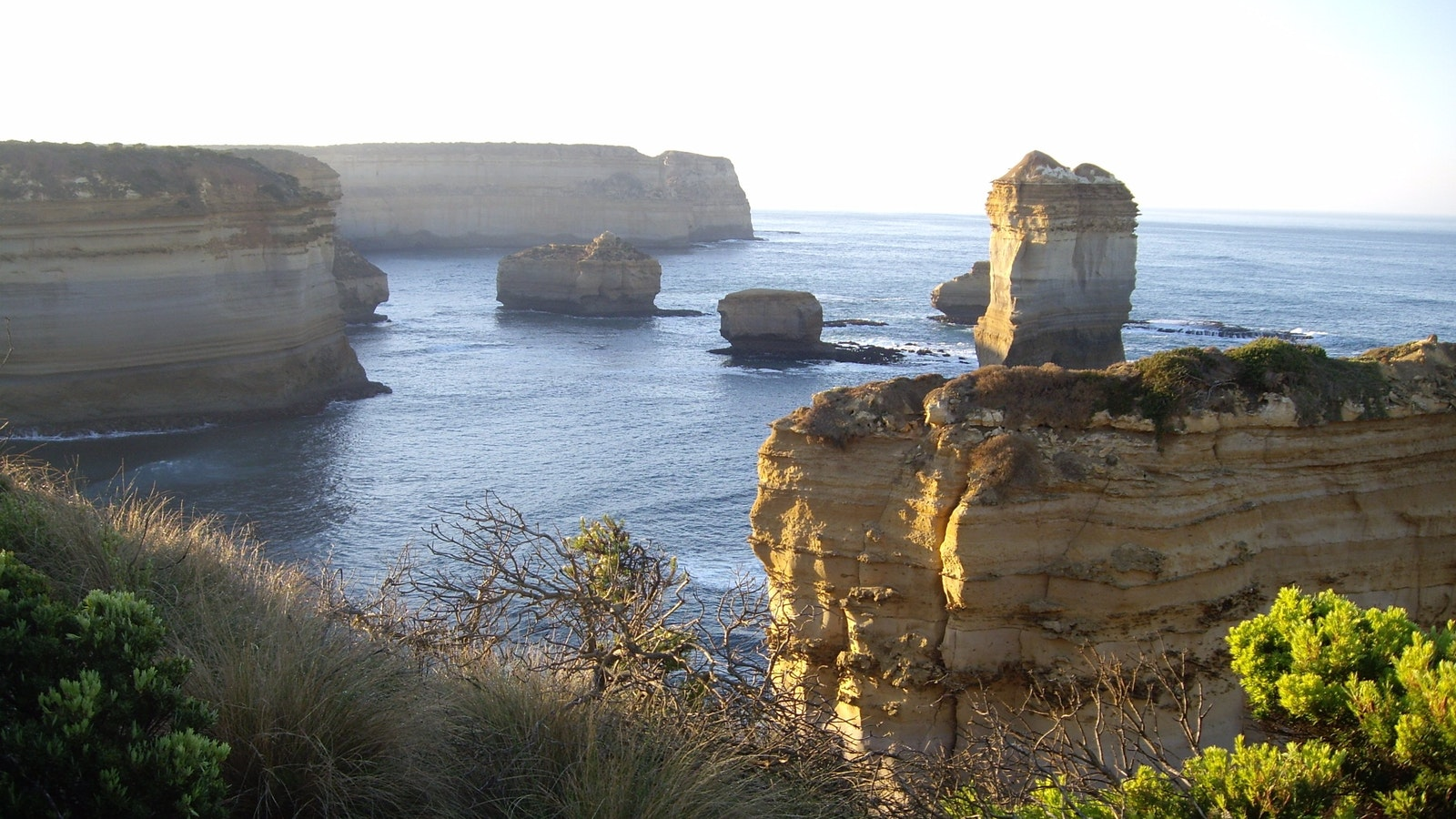 Razorback and rock stacks  Loch Ard Gorge