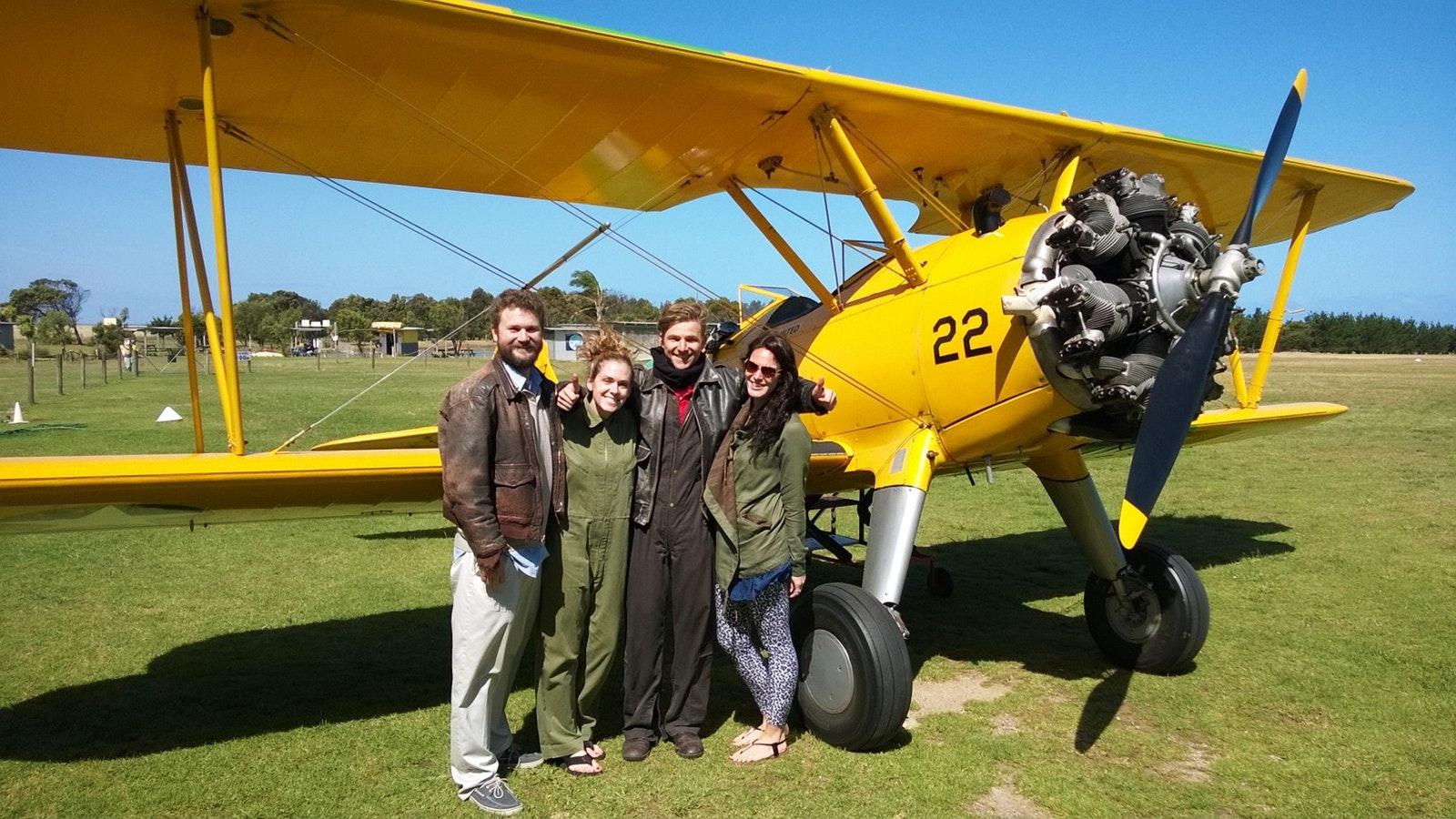 Tiger Moth World customers ready for flight