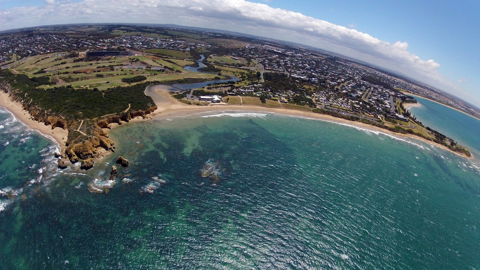 Torquay from the air with Tiger Moth World