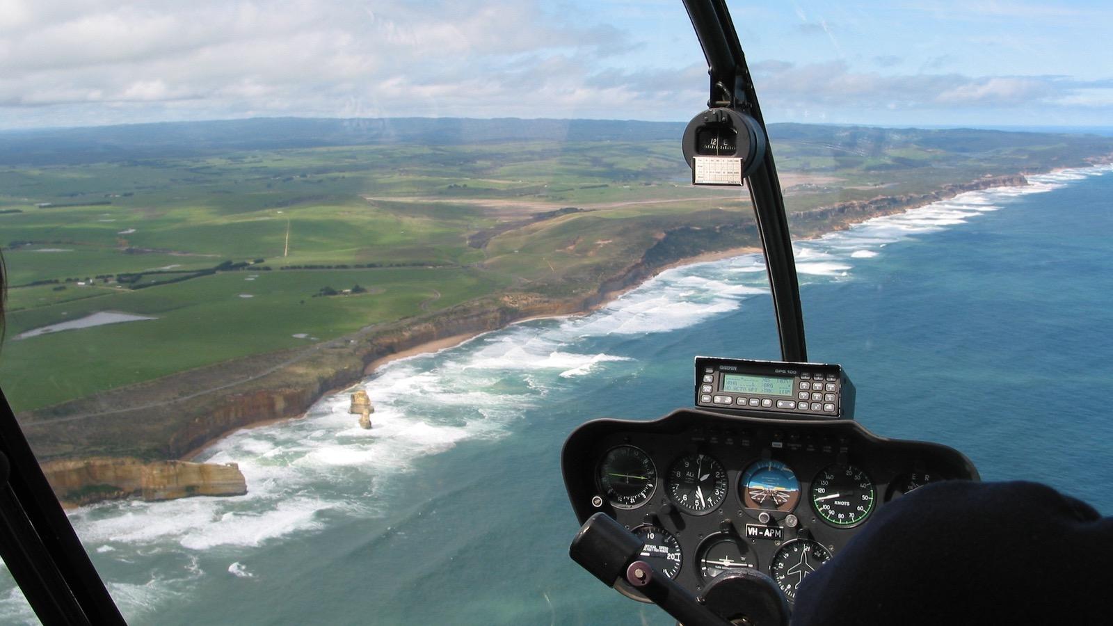 Shipwreck Coast Helicopter Flight
