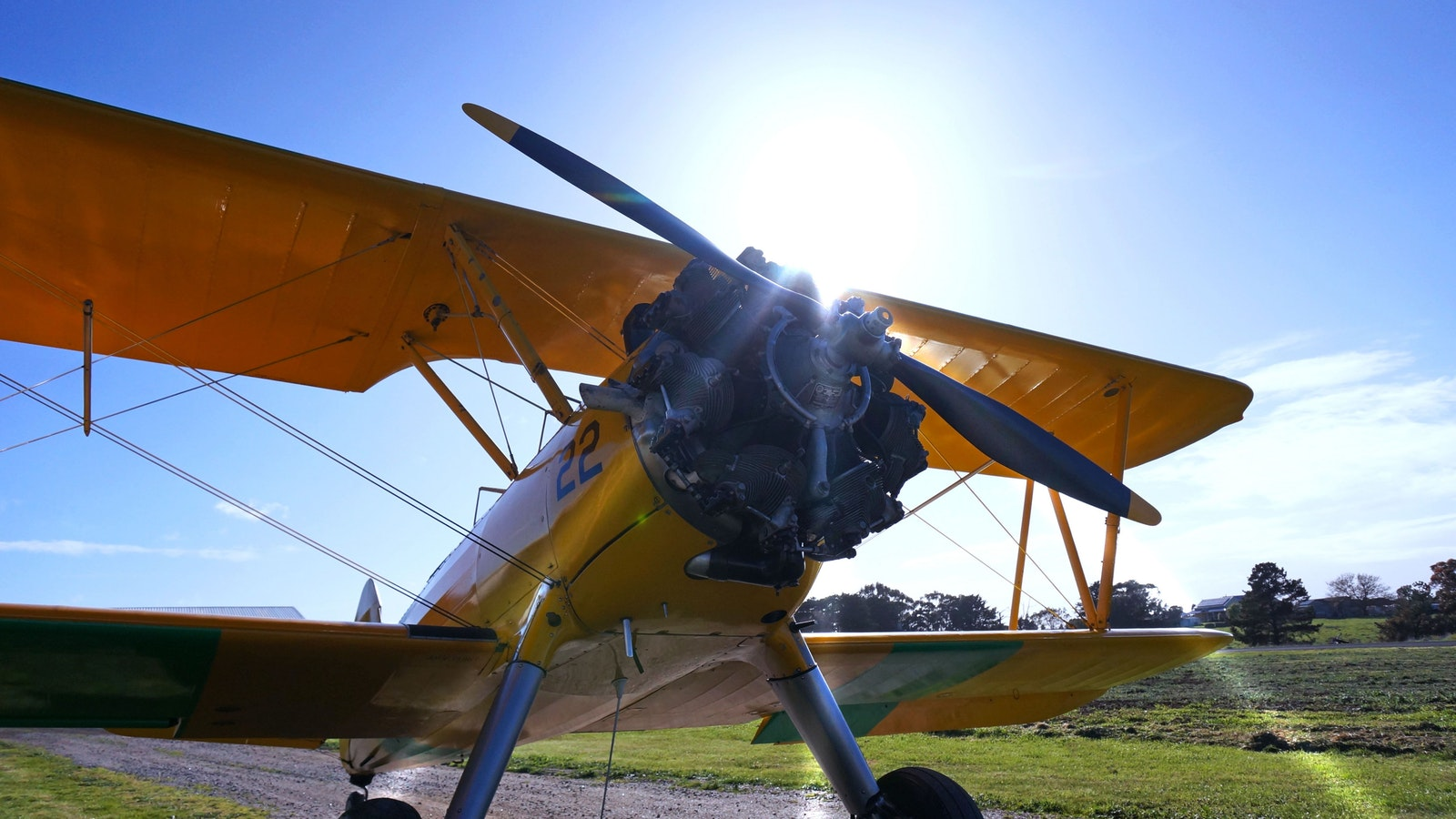 Tiger Moth World vintage biplane ready for takeoff