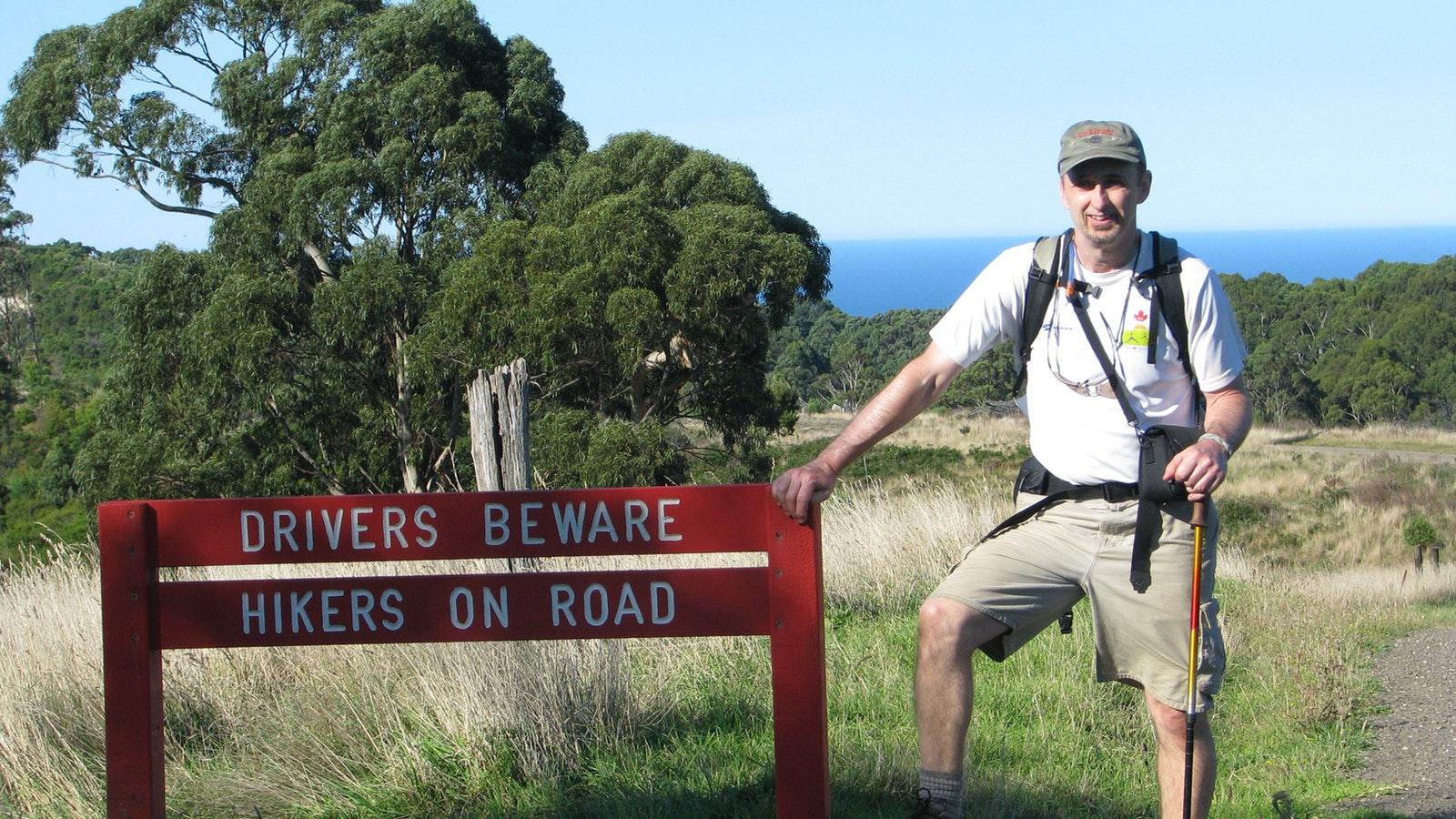Hikers on road Walk 91
