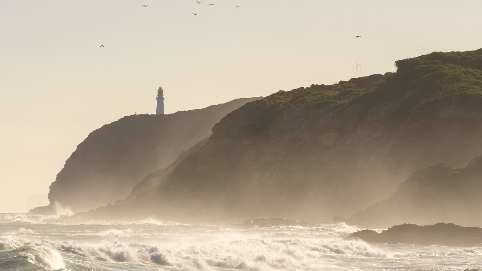 Cape Otway lighthouse viewed from the beach on RAW Travel walk