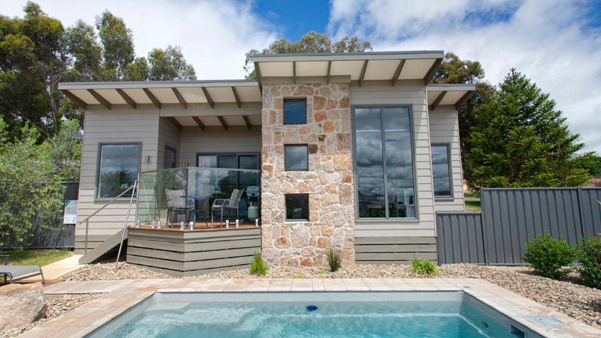 Premium villa features private plunge pool