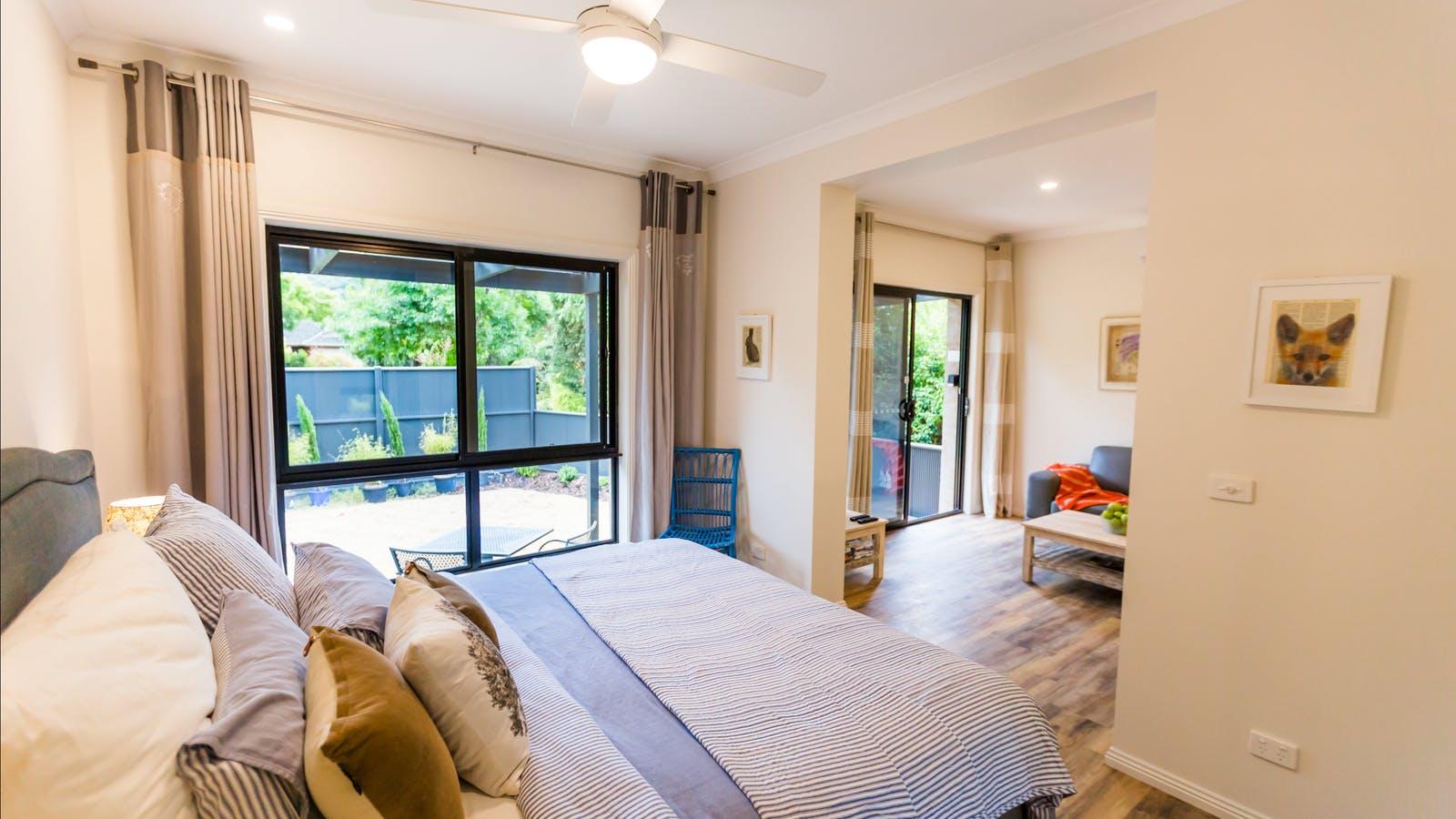 Double glazed windows & spacious rooms