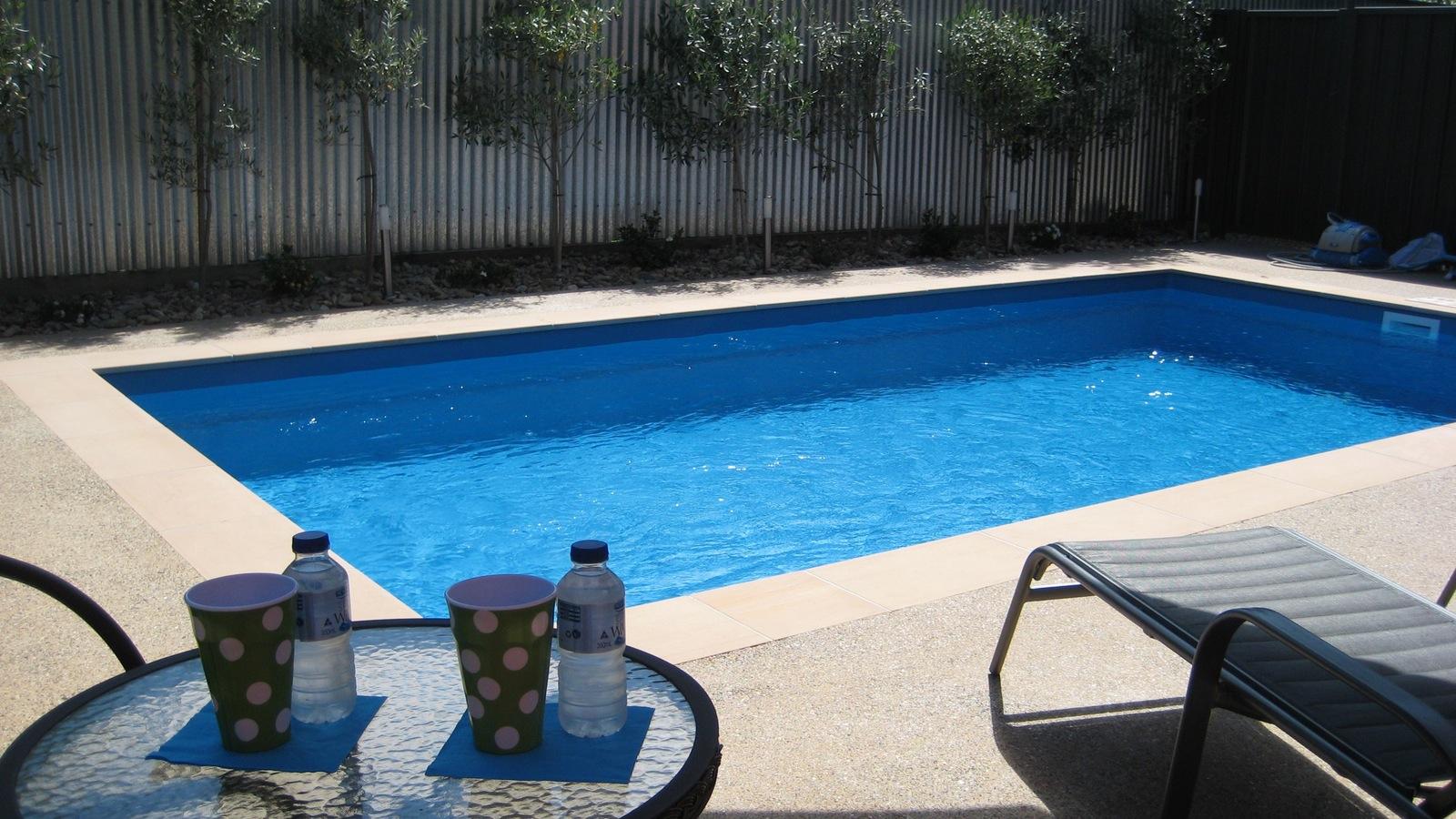 Finches Mineral Salt Solar Heated Pool