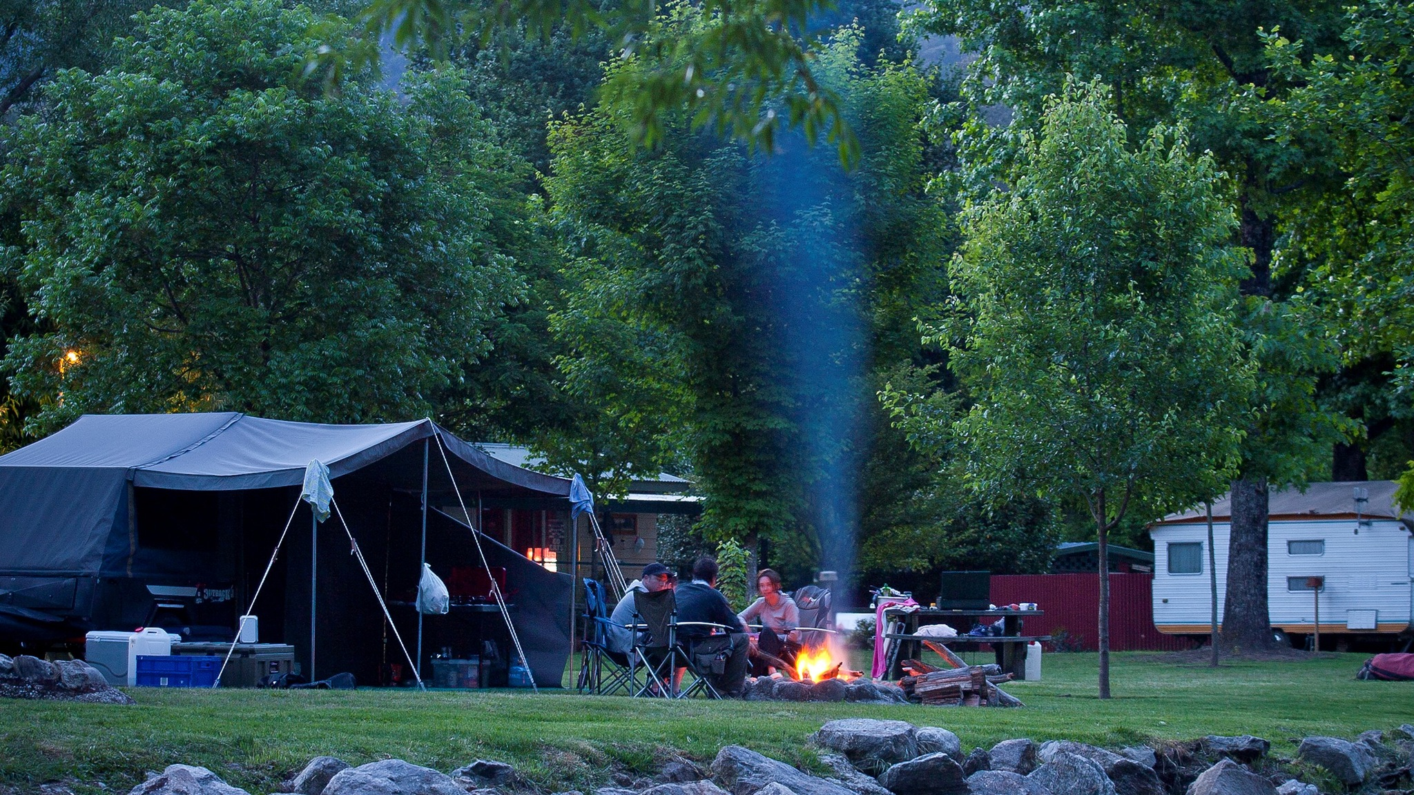 Riverside Campfires