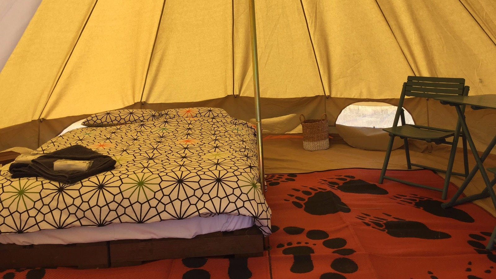 Mokoan Glamping tent and bedding