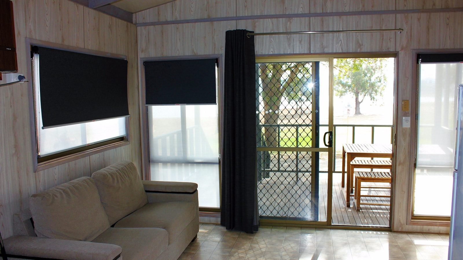 Inside Holiday Cabin
