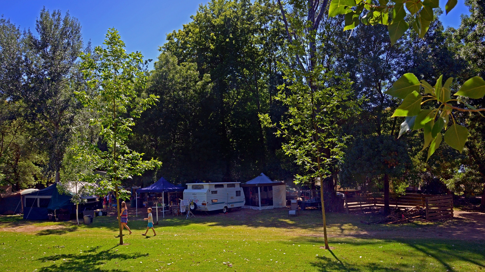 Spacious camp grounds