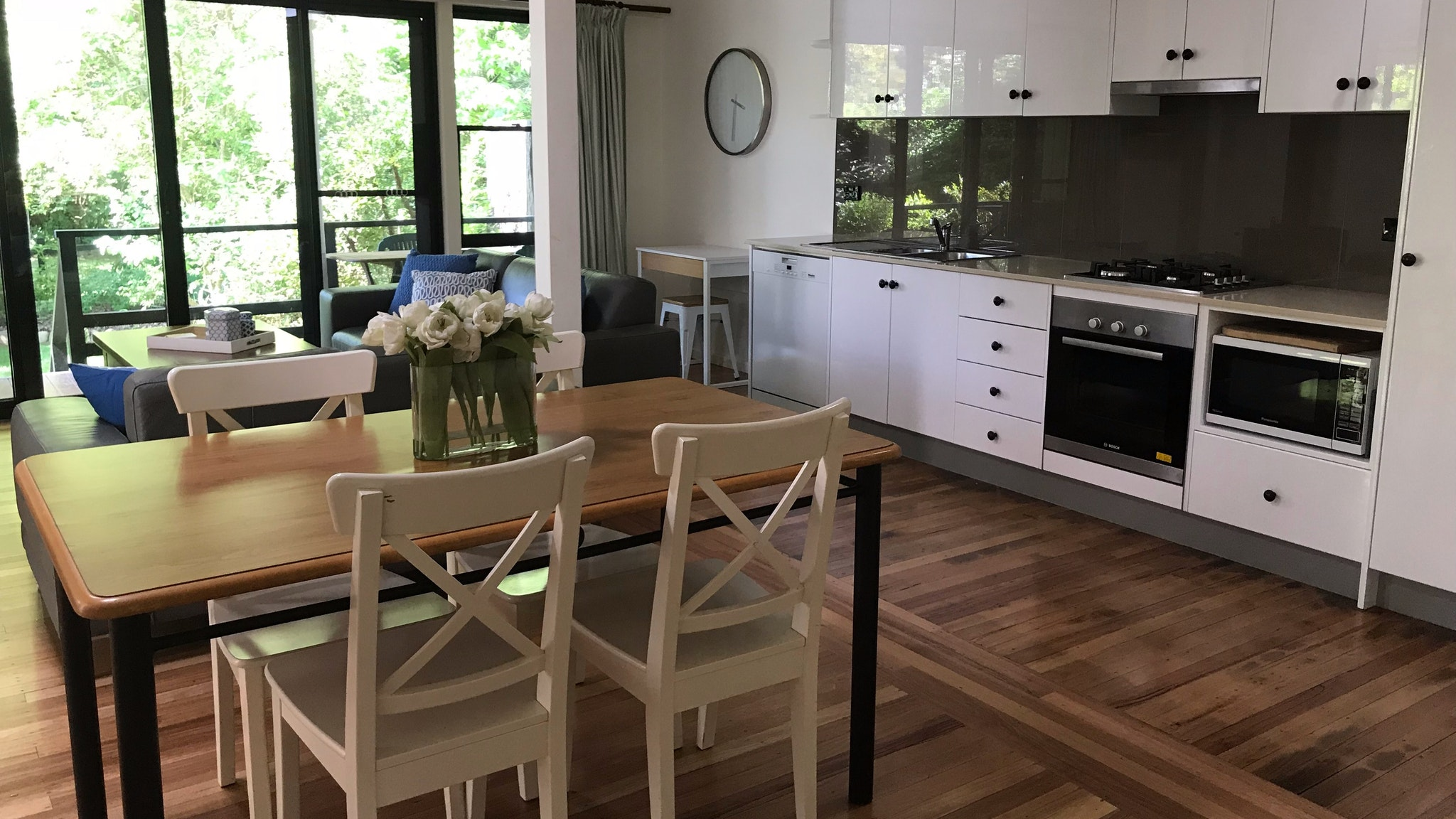 Open plan living makes for a relaxing holiday