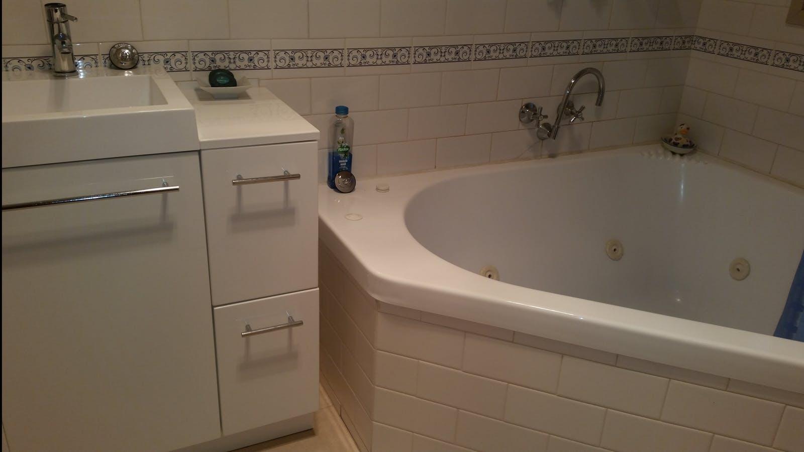 Soak in the double spa