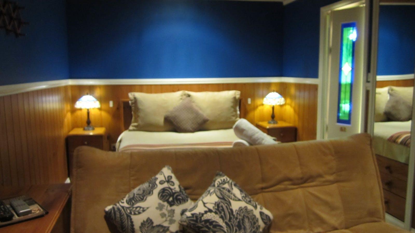 Bedroom area in Summer Cottage