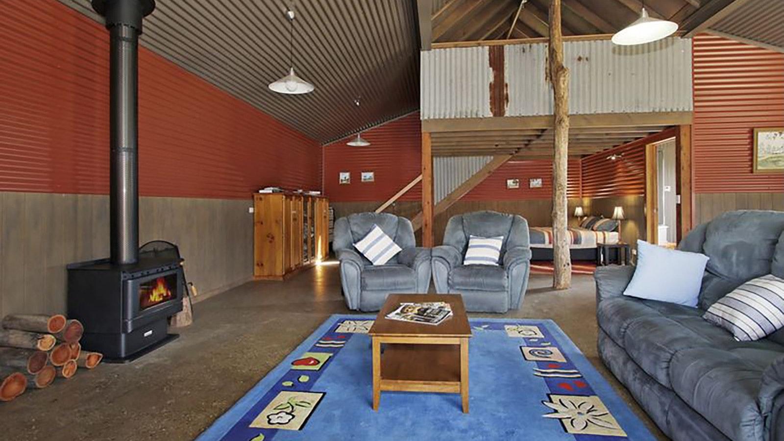 Inside Studio wood fire