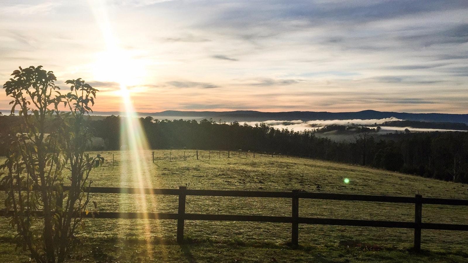 Sunrise over the ranges