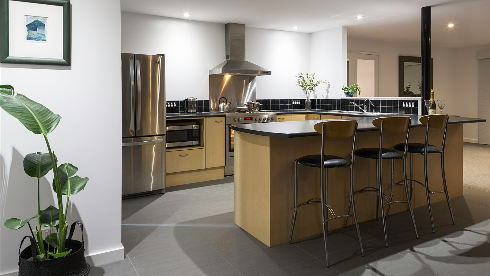 Cooking up a storm in this spacious kitchen