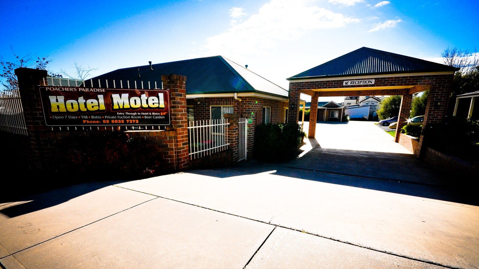 Motel frontage