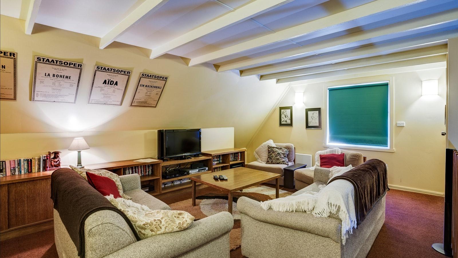 Attic lounge room