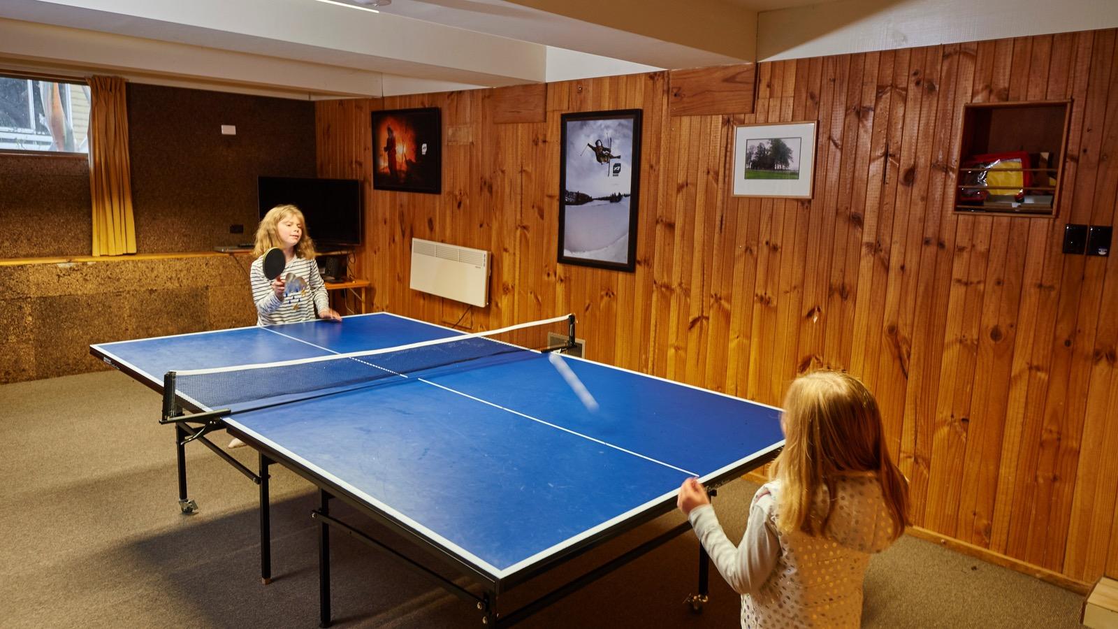 Games room table tennis at Cawarra Ski Club Mt Buller Accommodation