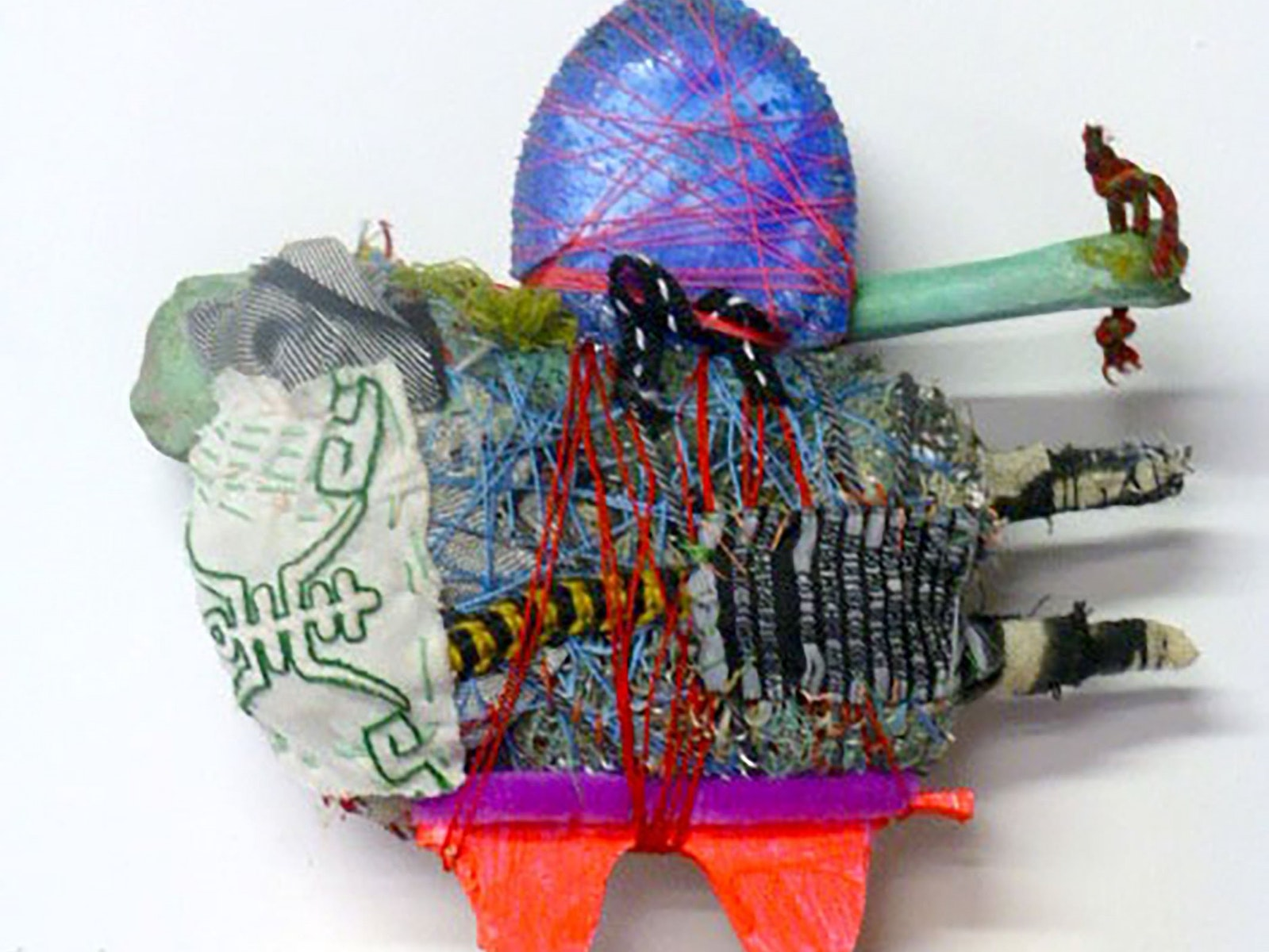 Susie Losch, Teasel, textile paraphernalia, teasel, found objects, 2016, 30 x 30cm overall, Entry fr