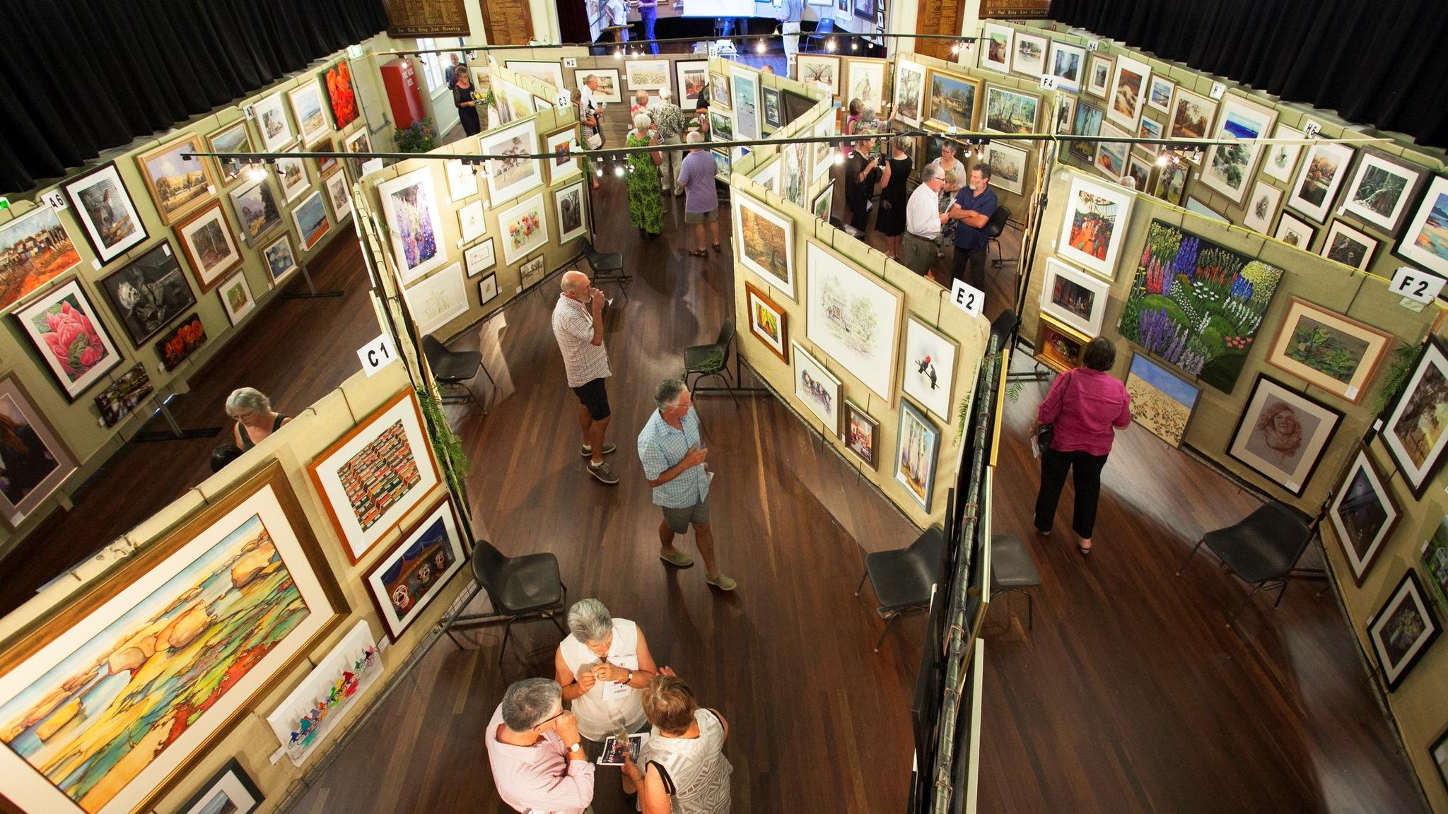 Yea Rotary Art Show - view from mezzanine