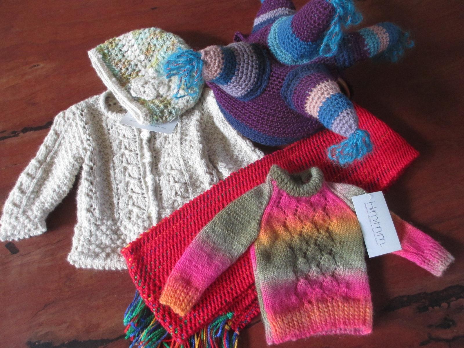 Handmade woollen garments