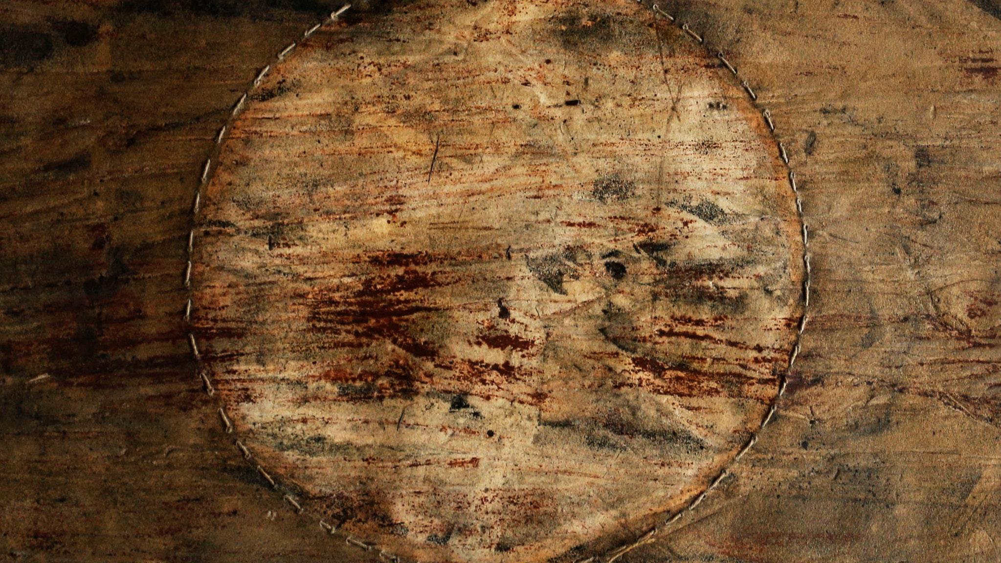 Bärbel ULLRICH, Earth Print, mixed media, 53 x 53cm.