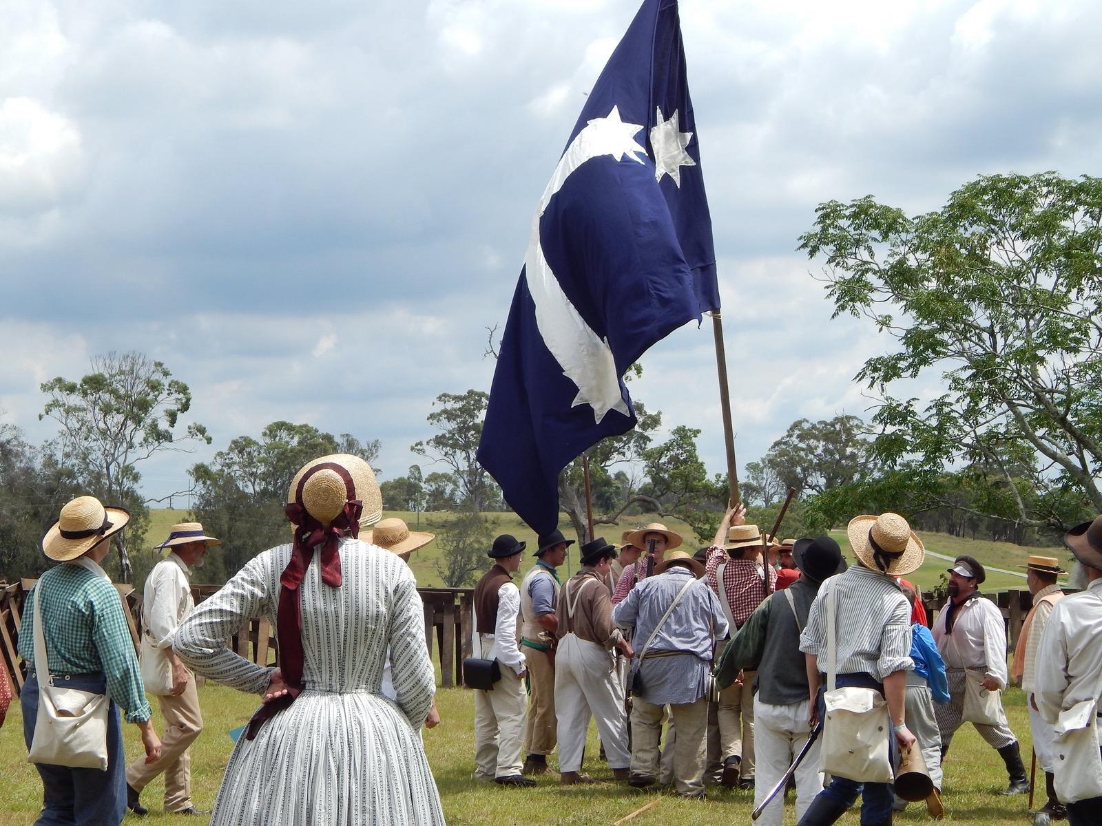 Miner and Eureka Flag