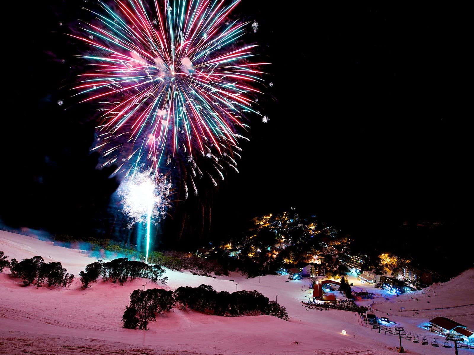 Fireworks at Falls Creek