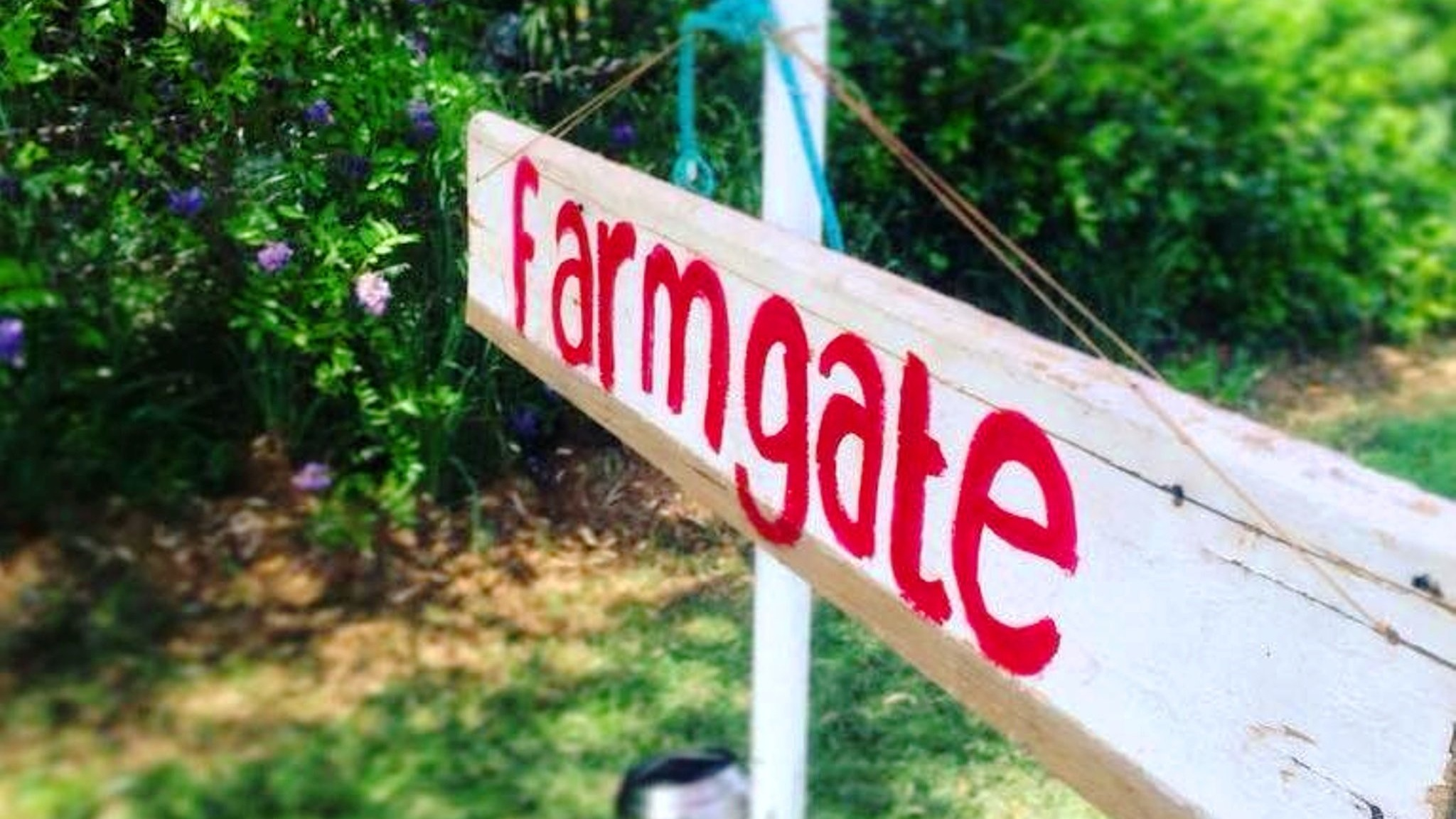 Farmgate swing sign